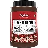 Nutrio Chocolate Peanut Butter - 1Kg (Creamy) - 21% High Protein - No Added Sugar - Vegan - Gluten Free
