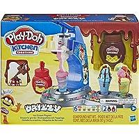Hasbro - Play-Doh Gelato Drizzy, Playset con Pasta da Modellare Kitchen Creations, E6688