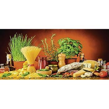 Artland Qualität I Glas Küchenrückwand ESG Spritzschutz Küche 120 X 56 Cm  Gemüse Digitale Kunst Bunt