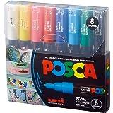 Posca Paint Marker Pen - PC-1M Extra Fine 0.7 mm, 8 Colors