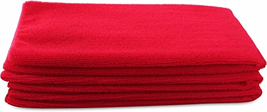 Bathe & Soak Pack of 1 (3 Pieces) Microfiber Hand Towel, 40x60 cms, 250 GSM (Red)