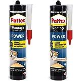 Pattex 9H PXP37X Montagelijm, 740 g, bouwlijm met sterke hechting, krachtlijm voor absorberende materialen, lijm voor binnen