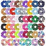52pcs Hair Scrunchies Fiori di chiffon Fasce per capelli elastici Scrunchy Hair Tie Corde per donne Ragazze