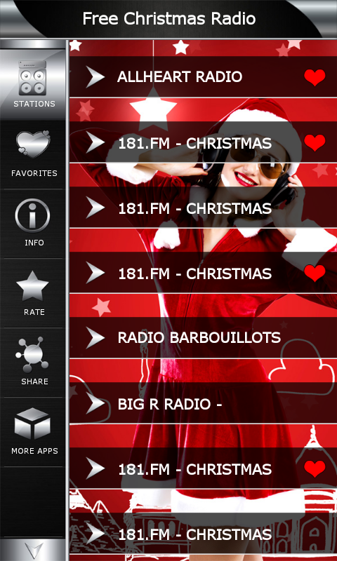 Christmas Radio Stations.Free Christmas Radio Amazon Co Uk Appstore For Android