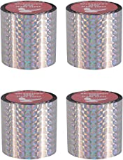 Spick Global Holographic Prismatic Pigeon Control Tape Bird Scare Ribbon Length 99 Feet Width 2 inch Set of 4 Rolls