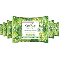 Simple Kind To Skin, Biodegradable Cleansing Make Up Remover Face Wipes For Women, Perfect for Sensitive Skin 1 Months…