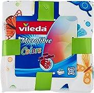 Vileda Colors Desenli Mikrofiber Bez, 3'Lü Paket