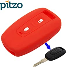 PITZO Car Silicone 2 Button Remote Key Cover/ Shell/ Case/ Body for Tata Indica Vista/ Manza (PIT 316_RD, Red)