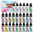 Alcoholinkt Set - 24 flessen levendige kleuren hoge geconcentreerde alcohol gebaseerde inkt, geconcentreerde epoxyhars verf k