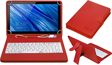 ACM USB Keyboard Case for Voyo I8 Plus Tablet Cover Stand with Free Micro USB OTG - Red