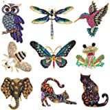Tacobear 9 Piezas Conjunto de Broche de Mujer Broches de Animales Insectos Coloridos Broche de Cristal de Insectos para Favor