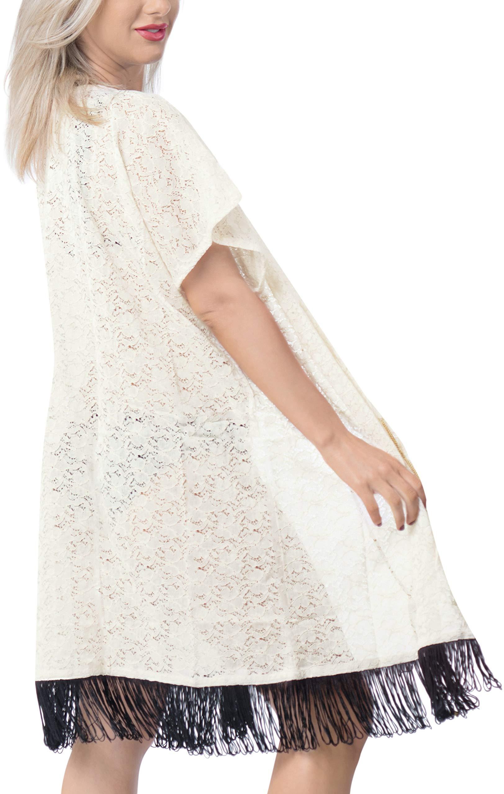 LA LEELA Copricostume Mare Cardigan Donna Taglie Forti- Vintage Chiffon Estivo Scialle Elegante Solido Kimono Vestito… 5 spesavip