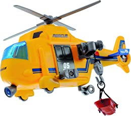 Dickie Toys 203302003 - Action Series Rescue Copter, Rettungshelikopter inklusive Batterien, 18 cm