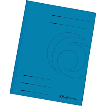 Büro & Schreibwaren Elba 100091649 Aktendeckel Smart Line 100er Pack Aus blau Aktendeckel
