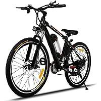 """Profun Vélo de Montagne Électrique 26"""" e-Bike VTT Pliant avec Batterie Lithium-ION à Grande Capacité (36V 250W), 21 Vitesses Suspension Complète Premium & Engrenage Shimano"""