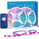 Alexa LED Striscia RGB WiFi, Maxcio 20M(2 * 10M) Striscia di Luci 5050 RGB Compatibile con Alexa Echo e Google Home, Smart St