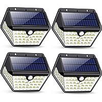 Solarlampen für Außen mit Bewegungsmelder,【2019 Neuestes Modell 60 LED-800 Lumen】iPosible Solarleuchte Aussen 2000mAh…