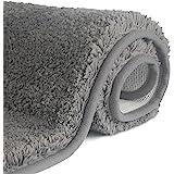 FCSDETAIL Halkfria, badmattor med hög lugg 50 x 80 cm, maskintvättbar badmatta, badrumsmatta med vattenabsorberande, mjuka mi