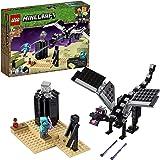 LEGO 21151 Minecraft LaBatallaenelEnd, Juguete de Construcción con Dragón Ender y Mini Figura de Enderman