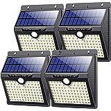 VOOE Luz Solar Exterior 97 LED [4 Pack / 3 Modos / 2200mAh] Foco Solar con Sensor de Movimiento Luces Solares para Exteriores