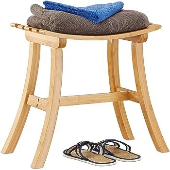 Relaxdays badezimmer bank bambus sitzbank bad - Badezimmermobel bambus ...