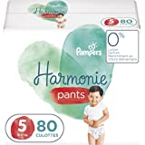 Pampers Couches-Culottes Harmonie Pants Taille 5 (12-17kg) 0% de compromis, 100% d'absorption, Ingrédients d'Origine Végétale
