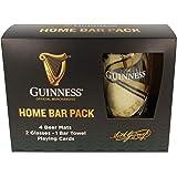 Confezione da bar ufficiale Guinness Home con tappetini, occhiali, asciugamani e carte