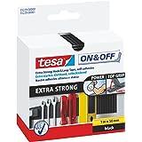 tesa On & Off Extra Strong Klittenband - Sterke zelfklevende klittenbandtape - Zware voorwerpen bevestigen zonder boren - Zwa