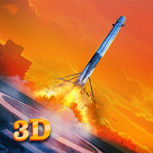 Rocket Space Odyssey Landing Simulator - Pilot Navigator