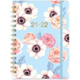 """2021-2022 Diary - Weekly & Monthly Dairy with Monthly Tabs, 6.3"""" x 8.4"""", Jul 2021 - Jun 2022, Flexible Floral Hardcover with"""