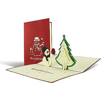 Weihnachtskarte mit Umschlag, Schneemann, Gutschein, Klappkarte ...