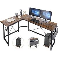 AuAg L-förmiger Schreibtisch,167cm L-Form Computertisch mit Aufbewahrungstasche und Haken, Eckschreibtisch Stabiler PC…