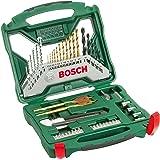 Bosch Home and Garden 2607019327 Misto X-Line Set Titanio, Trapano per Avvitamento e Foratura, 2000 W, 240 V, Blu/Rosso, 50 P