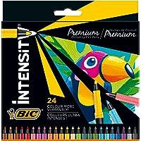 BIC Intensity Premium Filzstifte, zum Malen für Erwachsene und Kinder, in 24 Farben, mit komfortablem Kautschukgriff und…