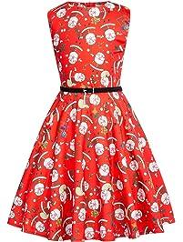 036f8885d Kate Kasin Vestido Vintage Estampado de Niñas Años 50 para Fiesta Cóctel  Vestido Algodón de Verano
