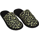 The Slipper Factory Unisex Green and Black Slippers