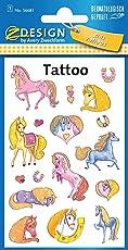 Avery Zweckform 56681 Kinder Tattoos Pferde (temporäre Transferfolie, dermatologisch getestet) 17 Aufkleber