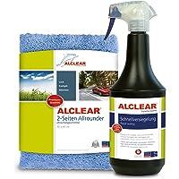ALCLEAR 71100SV Lack Schnellversiegelung 1 Liter inkl. Mikrofaser Auto Poliertuch für Autopflege, Motorrad, Fahrrad