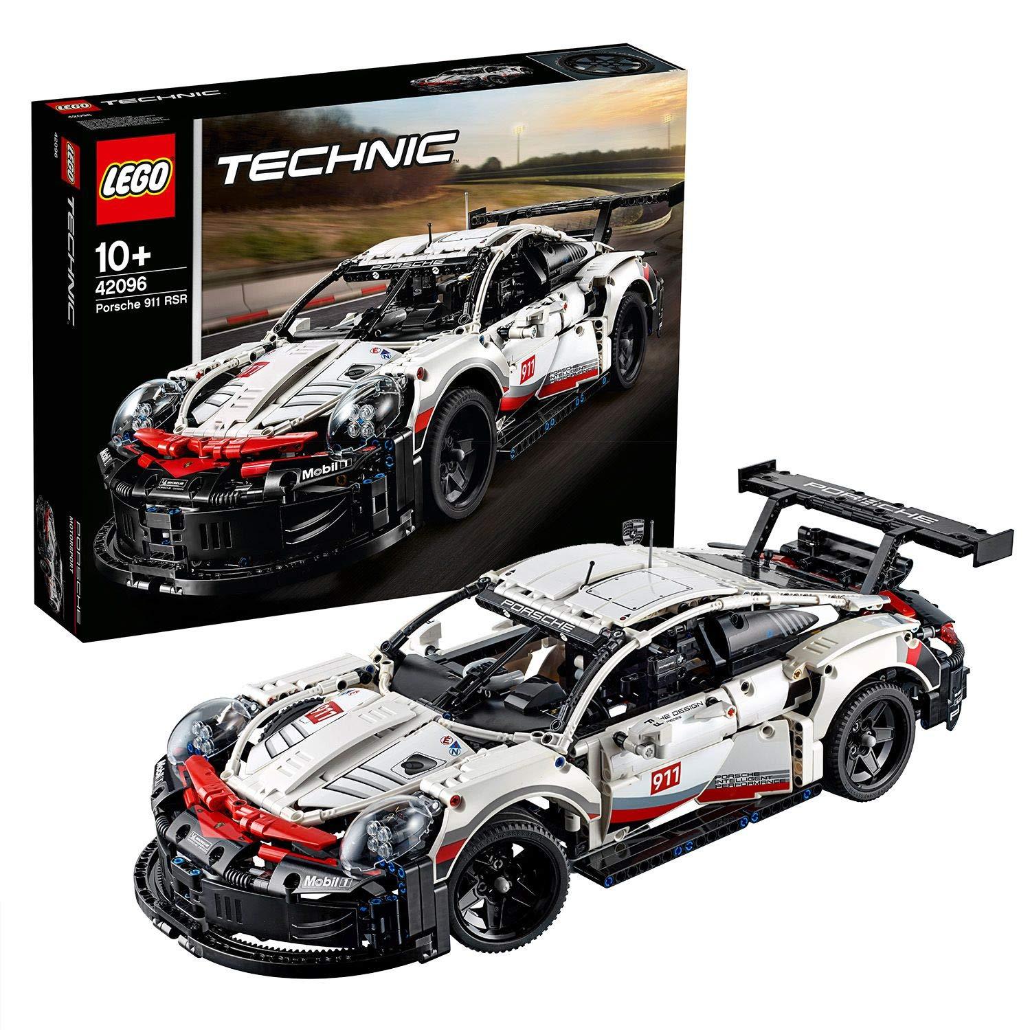 LEGO 42096 Technic Porsche 911 RSR, 1.580 Teile, Weiß, Rot und Schwarz