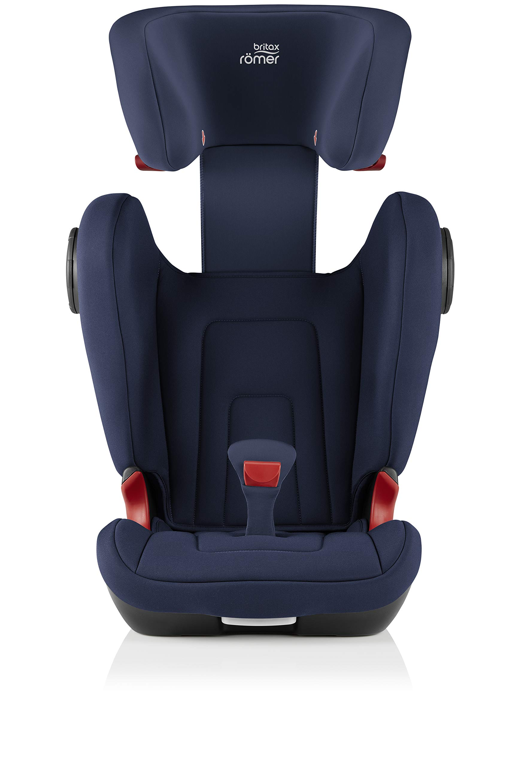 Britax Römer KIDFIX² S Group 2-3 (15-36kg) Car Seat - Moonlight Blue  Advanced side impact protection - sict offers superior protection to your child in the event of a side collision. reducing impact forces by minimising the distance between the car and the car seat. Secure guard - helps to protect your child's delicate abdominal area by adding an extra - a 4th - contact point to the 3-point seat belt. High back booster - protects your child in 3 ways: provides head to hip protection; belt guides provide correct positioning of the seat belt and the padded headrest provides safety and comfort. 7