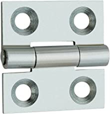 Hooks&Hinges Butt Hinge Bright Zinc Plated on Iron 1 inches-10pcs