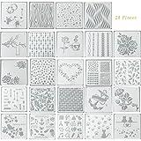 Ai-life 24 Stks Bullet Journal Stencil Plastic Planner Template Set voor Journal/Notebook/Dagboek/Scrapbook DIY Tekening/Kaar