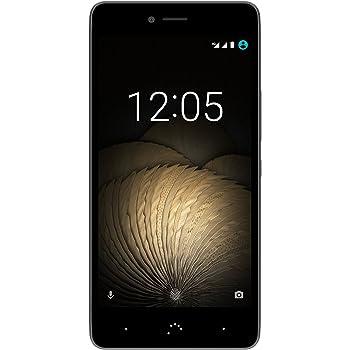 "BQ Aquaris U Plus - Smartphone de 5"" (Dual SIM, Bluetooth 4.2, Octa Core 1.4 GHz, memoria interna de 32 GB, 2 GB de RAM, cámara de 16 MP, Android 6.0.1 Marshmallow) negro y gris antracita"