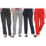SHAUN Women's Regular Fit Trackpants (Pack of 4) (B07P9QV9MC_Multicolored_Small)