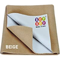 Beybee Quick Dry Bed Protector Waterproof Baby Cot Sheet - Small (Beige)
