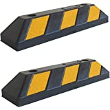 SNS SAFETY LTD Butée de Roue en Caoutchouc, pour Garage et Parking, 55x15x10 cm (Pack de 2)