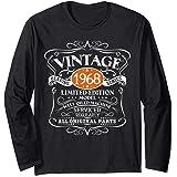 Vintage 1968 53.o regalo de cumpleaños hombres mujeres Manga Larga
