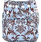 Bumberry Pocket Diaper and 1 Microfiber Insert (Blue Brown Royal)