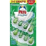 PATO - Active Clean colgador para inodoro, frescor intenso, perfuma y desinfecta, aroma Pino, 2 unidades, Estándar
