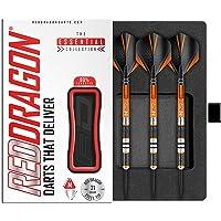 RED DRAGON Amberjack Series Steel Profi Dartpfeile Steeldarts Set mit Flights und Schäfte
